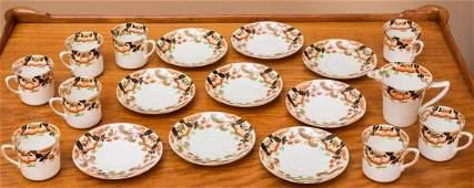 A Royal Crown Derby Porcelain Partial Tea Service, late