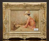 A Pair of Oil on Canvas Portraits of Ladies, late 20th