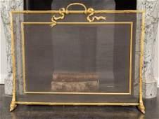 A Louis XV-Style Gilt Bronze Firescreen, 20th century 2