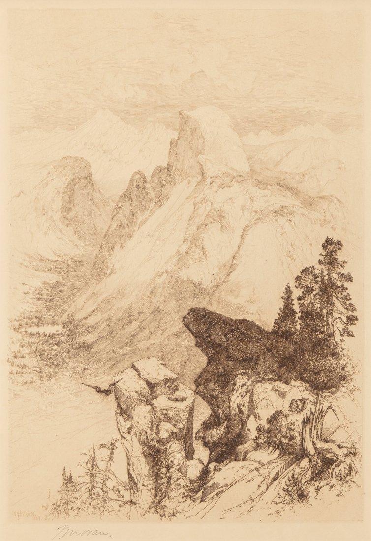 65006: Thomas Moran (American, 1837-1926) The Half Dome
