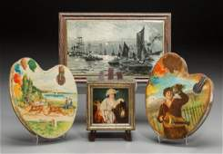 65365 A Group of Four Huntley  Palmers Art Related Bi