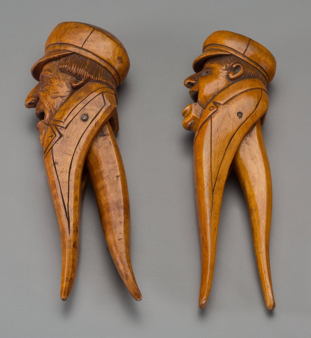 65012: Two Continental Carved Wood Nutcrackers of Marin