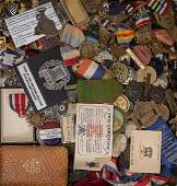 65437 A Large Lot of United States Military Badges and