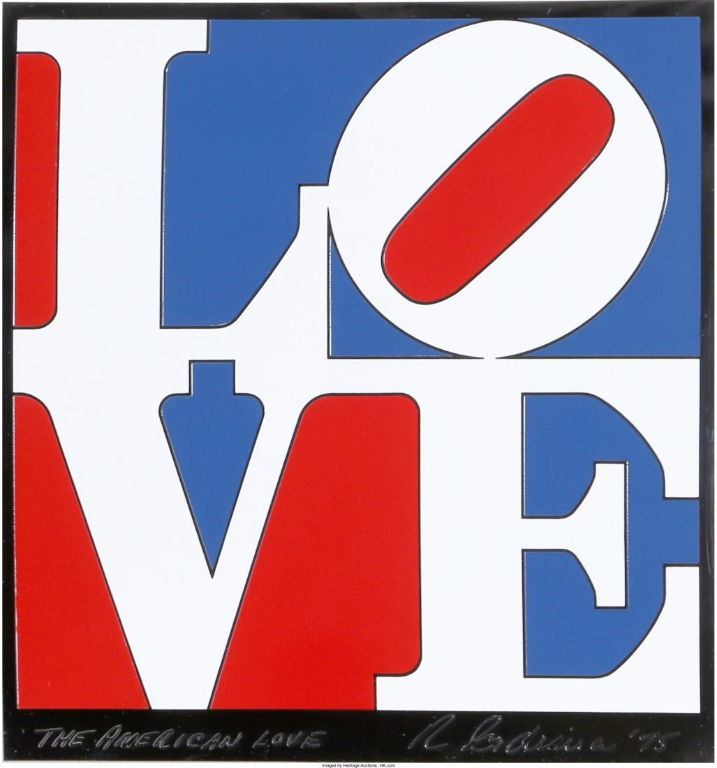 13059: Robert Indiana (American, b. 1928) The American