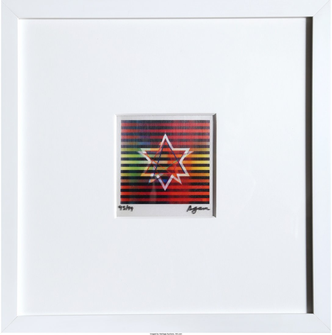 13002: Yaacov Agam (Israeli, b. 1928) Two Stars (Small)