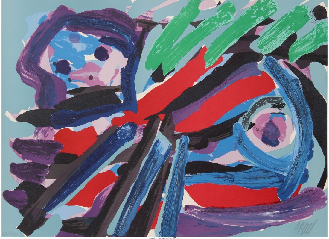 13005: Karel Appel (Dutch, 1921-2006) Walking with my B