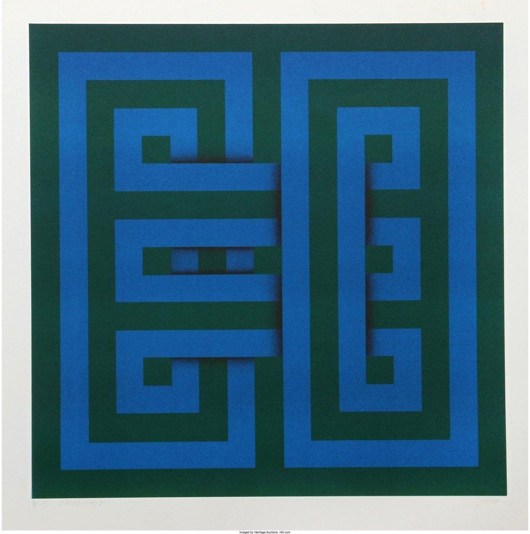 13107: Omar Rayo (Colombian, 1928-2010) Saphan, 1969 Si