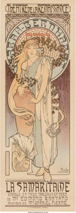 61371: Alphonse Mucha (Czechoslovakian, 1860-1939) La S