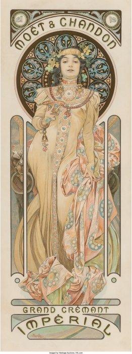 61374: Alphonse Mucha (Czechoslovakian, 1860-1939) Moë