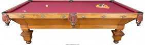 61104: A Brunswick-Balke-Collender Oak Pool Table Marks