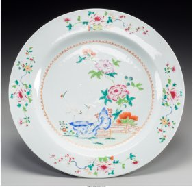 61309: A Chinese Export Famille Rose Porcelain Charger