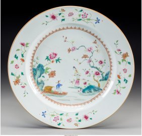 61311: A Chinese Export Famille Rose Porcelain Charger: