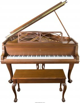61122: A Steinway & Sons Chippendale-Style Model M Gran