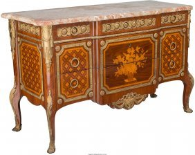 61046: A French Louis XVI-Style Mahogany and Kingwood M