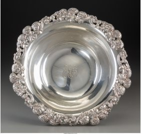 61221: A Tiffany & Co. Silver Bowl with Clover Blossom