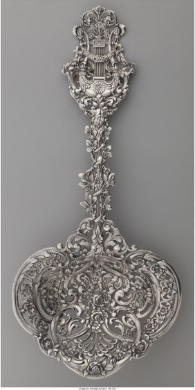 61223: A Tiffany & Co. Silver Saratoga Chip Server, New
