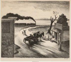 61427: Thomas Hart Benton (American, 1889-1975) Edge of