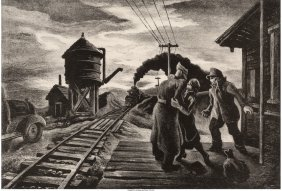 61430: Thomas Hart Benton (American, 1889-1975) Morning