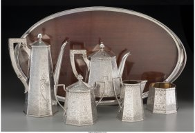 61238: A Six-Piece Silver Barbour Silver Co. Tea and Co