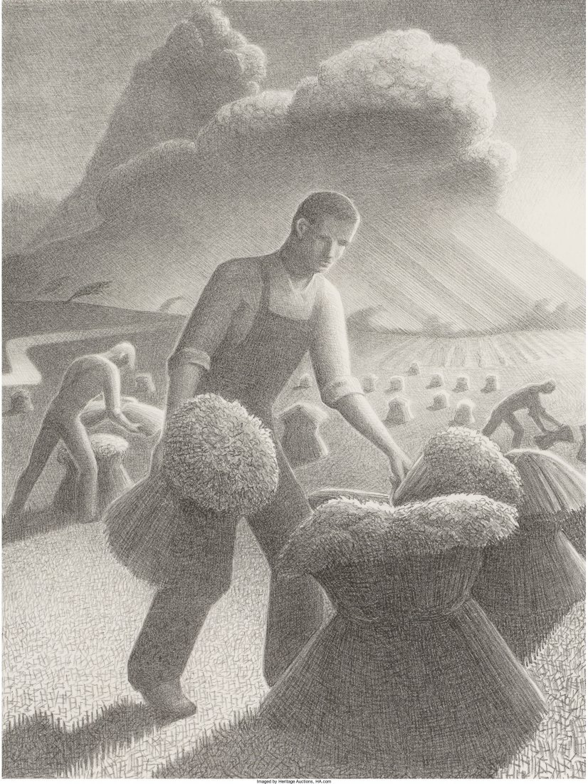 61439: Grant Wood (American, 1891-1942) Approaching Sto