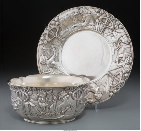61241: A Two-Piece Tiffany & Co. Partial Gilt Silver Ch