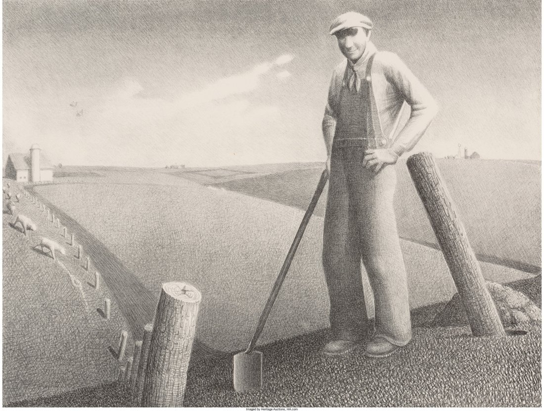 61440: Grant Wood (American, 1891-1942) In the Spring,