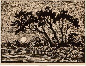 61444: Birger Sandzén (American, 1871-1954) Smoky Rive