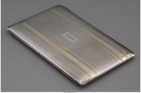 61246: A Tiffany & Co. Silver and Partial Gilt Cigarett