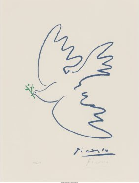 61492: Pablo Picasso (Spanish, 1881-1973) Dove of Peace
