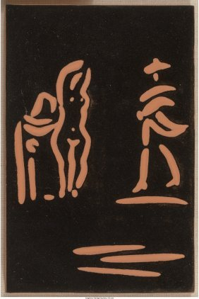 61505: Pablo Picasso (Spanish, 1881-1973) Femme et tore