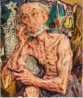 61519: Jack Levine (American, 1915-2010) Tombstone Cutt