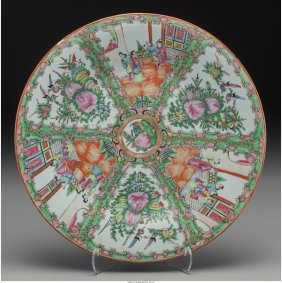 61572: A Chinese Rose Medallion Porcelain Charger, earl