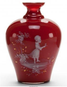 61712: A Continental Cased Glass Vase, circa 1900  Mark