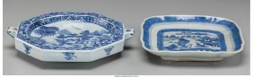 61596: Two Chinese Blue and White Porcelain Plates 10-1