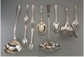 61814: A Sixty-Four Piece Group of Assorted Sterling Si