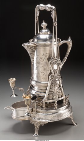 61816: A Pairpoint Silver-Plated Cold Beverage Server w