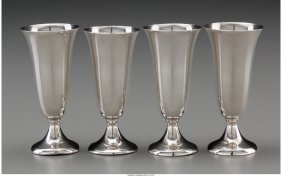 61817: Sixteen Gorham Silver Cordial Stems, Providence,