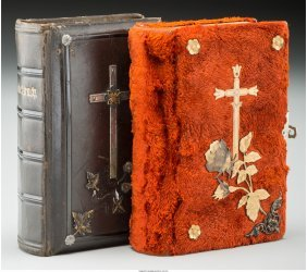 61977: Two Small German Prayer Books, 20th century 4-1/