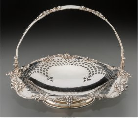 61895: A Gorham Silver Reticulated Bride's Basket, Prov