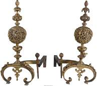 61704 A Pair of Louis XVStyle Gilt Bronze Chenets la