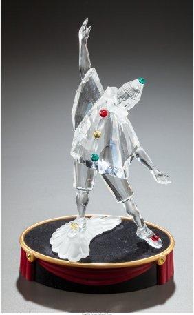 61709: A Swarovski Crystal Masquerade Figurine of Pierr