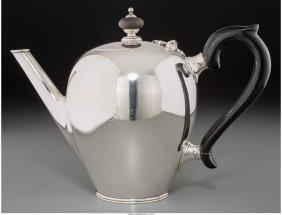 61867: A Tiffany & Co. Silver Bullet-Shaped Teapot, New