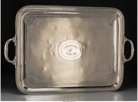 61874: A Large Christofle Silver-Plated Tray, Paris, Fr