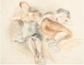 62172: Raphael Soyer (American, 1899-1987) Sleeping Wom