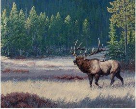 62190: Patrick Sawyer (American, 20th Century) Elk Call