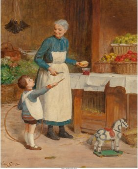 62093: Victor Gabriel Gilbert (French, 1847-1933) May I