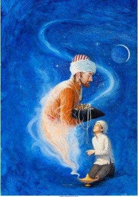 62292: RUDY NAPPI (American, b. 1923) Arabian Nights Oi