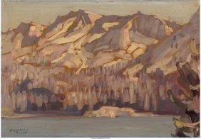 62213: Conrad Buff (American, 1886-1975) Winter Lake in