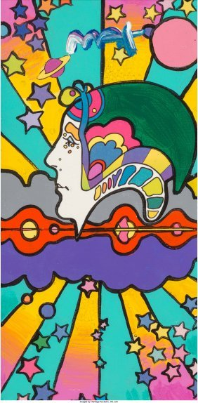 62379: Peter Max (American, b. 1937) Different Drummer.