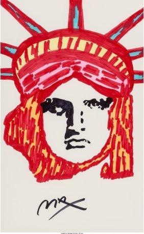 62381: Peter Max (American, b. 1937) Liberty Marker on